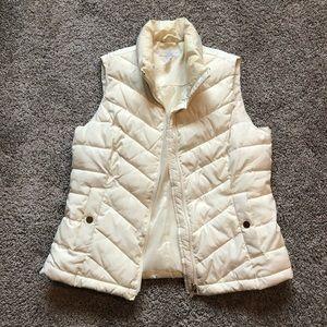 Cream Charter Club puffer vest